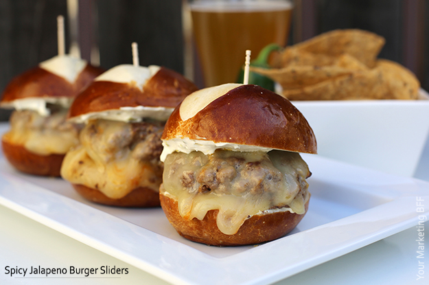 Spicy Jalapeno Burger Sliders by Your Marketing BFF