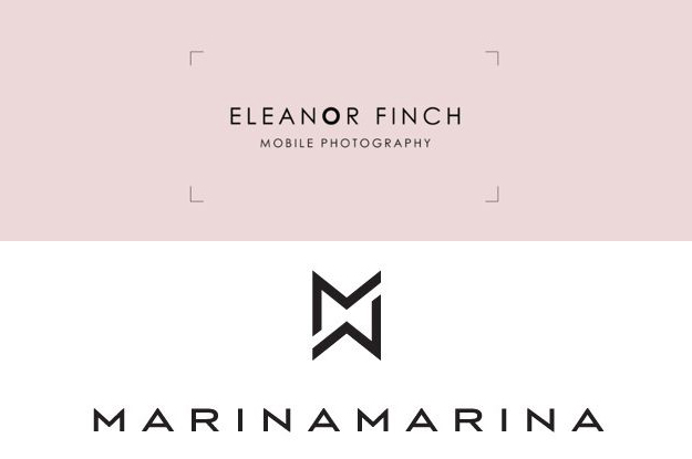 Typography Based Logos_Eleanor Finch and Marina Marina