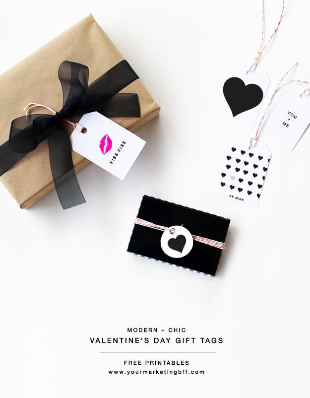 DIY modern Valentine Gift Tags