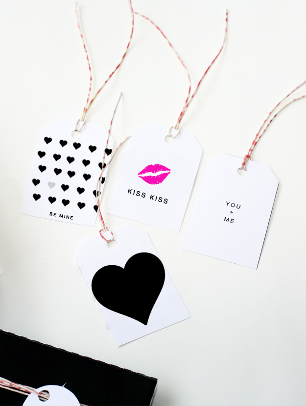 Modern Chic Valentines Day Gift Tags by Your Marketing BFF
