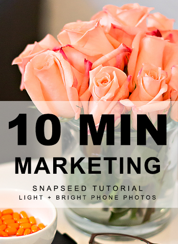 10 Min Marketing Snapseed Tutorial by Your Marketing BFF