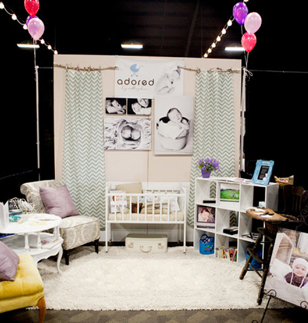 Trade Show Booth Inspiration-Adored Photography Expo Booth Space