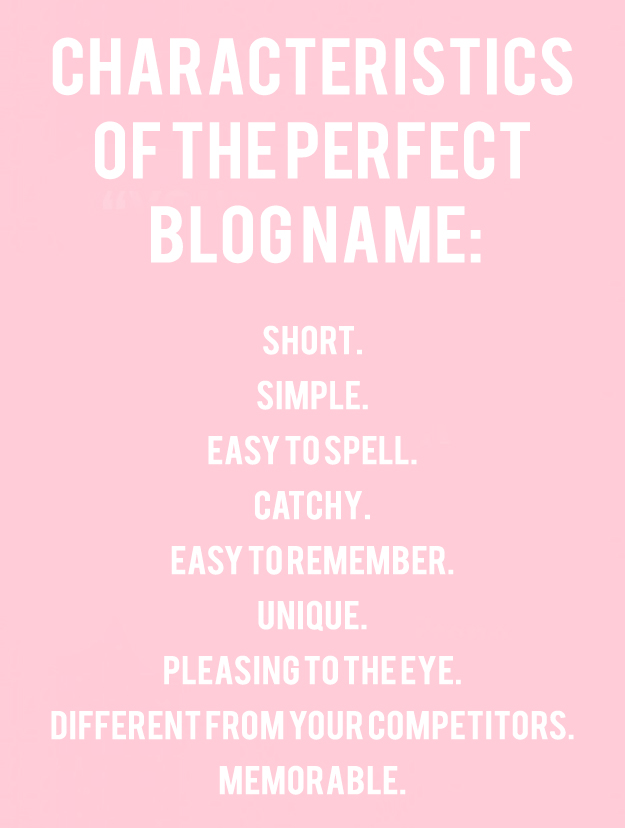 characteristics of the perfect blog name