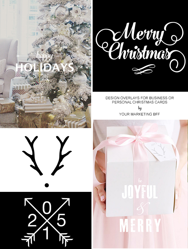 Christmas Card Overlay Designs