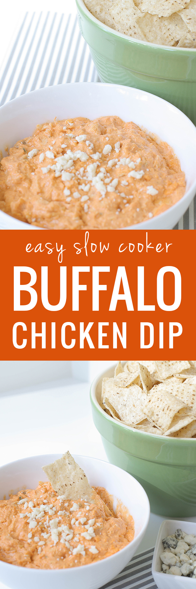 Easy Slow Cooker Buffalo Chicken Dip Recipe and Appetizer