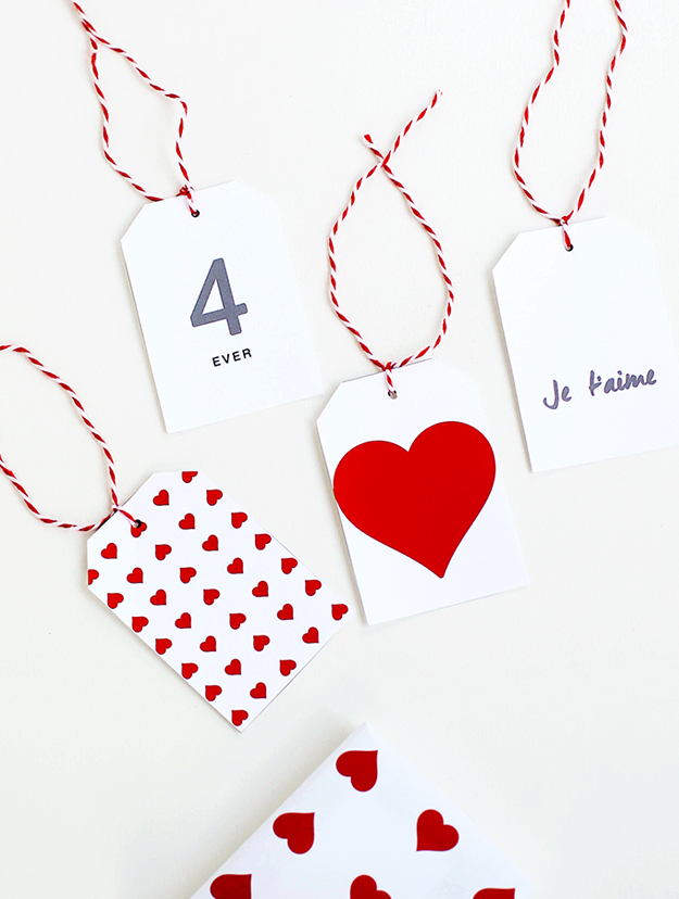 Modern Valentines Day Gift Tags