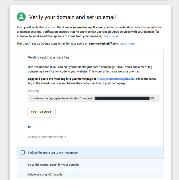 how to add business info on gmail