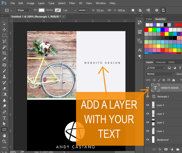 Long Pin image creation - add layer of text