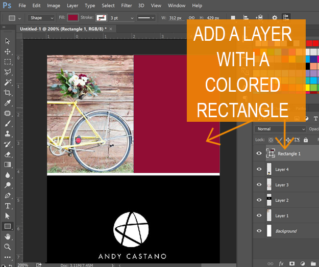 Long Pin image creation - add rectangle colored area 2