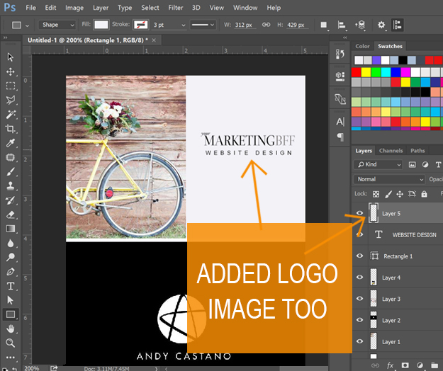 Long Pin image creation - add your logo