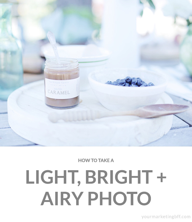 How to take a light bright and airy photo