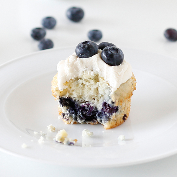 Blueberry Banana Cupcakes with Cream Cheese Frosting