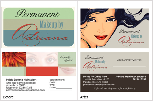 Happy customers permanent makeup by adriana yourmarketingbff heres the permanent makeup by adriana business card makeover before and after and colourmoves