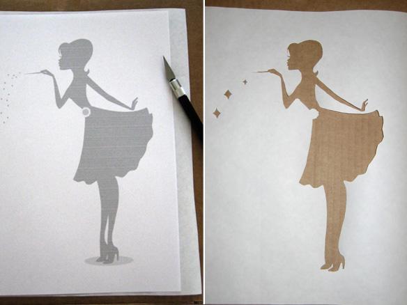 DIY} Freezer Paper Stencil Logo T\'s - yourmarketingbff.com