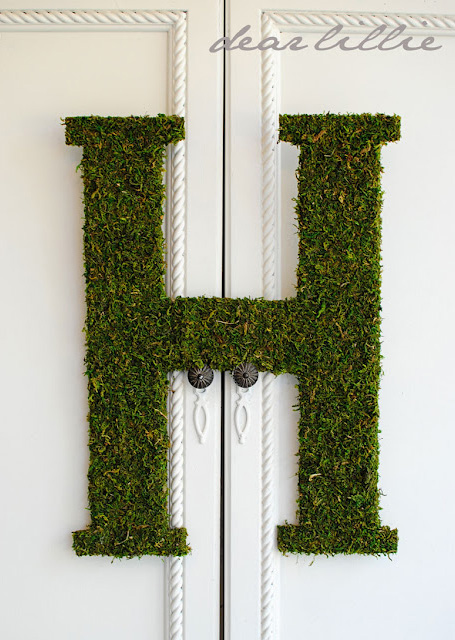 {DIY} Large Moss Letter tutorial