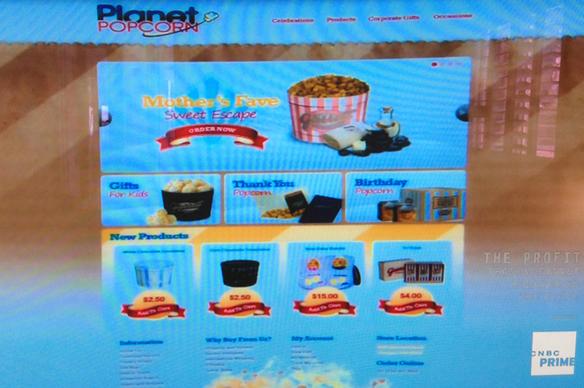 Planet Popcorn website design mock up