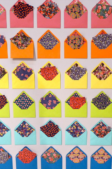 Wall display of patterns and prints