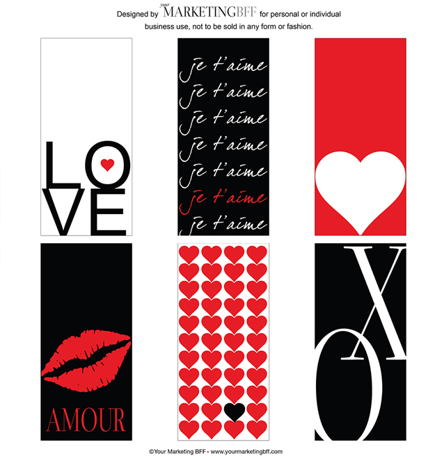 valentine cards tags free printable. Black Bedroom Furniture Sets. Home Design Ideas
