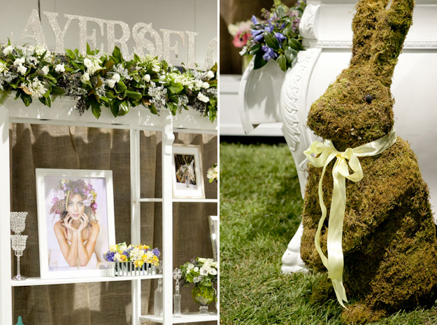 Layers of Lovely wedding show booth details