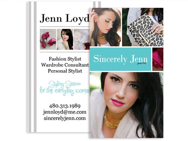 Sincerely Jenn Business Card Design