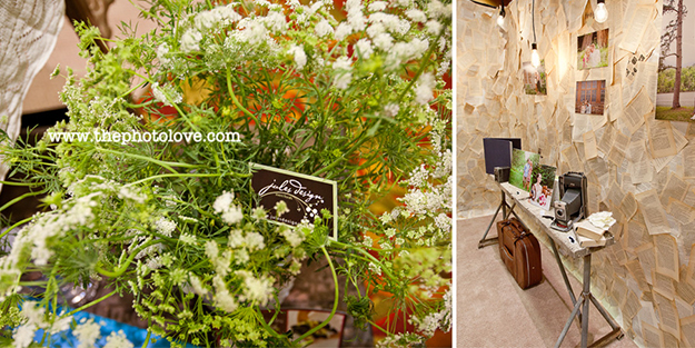 details to brighten a booth space