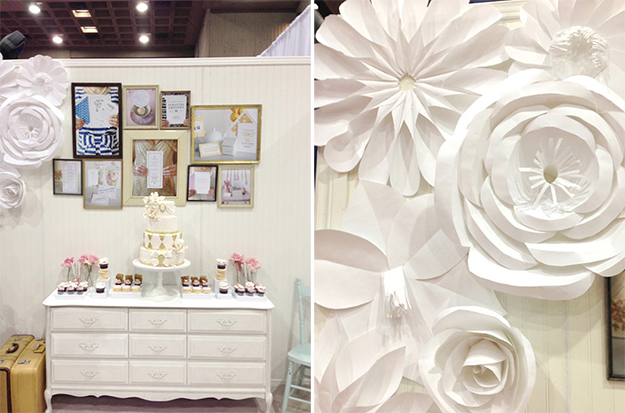 Trade show inspiration tartine paperie diy giant paper flowers tartine paperie booth dessert table and giant paper flowers mightylinksfo