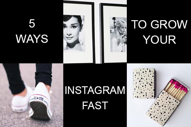 5 ways to grow your instagram fast