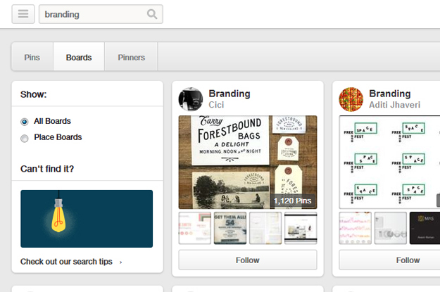 Step 1 find a Pinterest Board under a specific topic