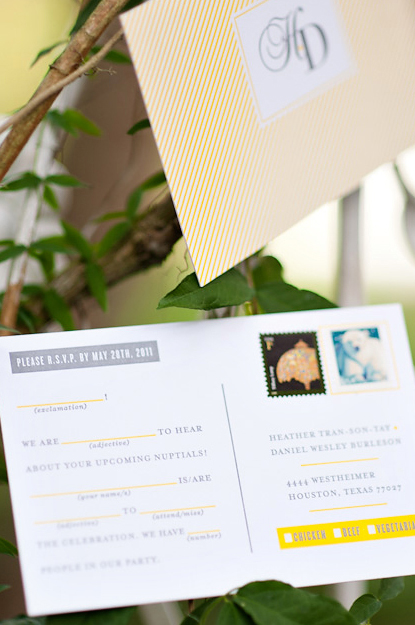 Fun Wedding RSVP Card Idea