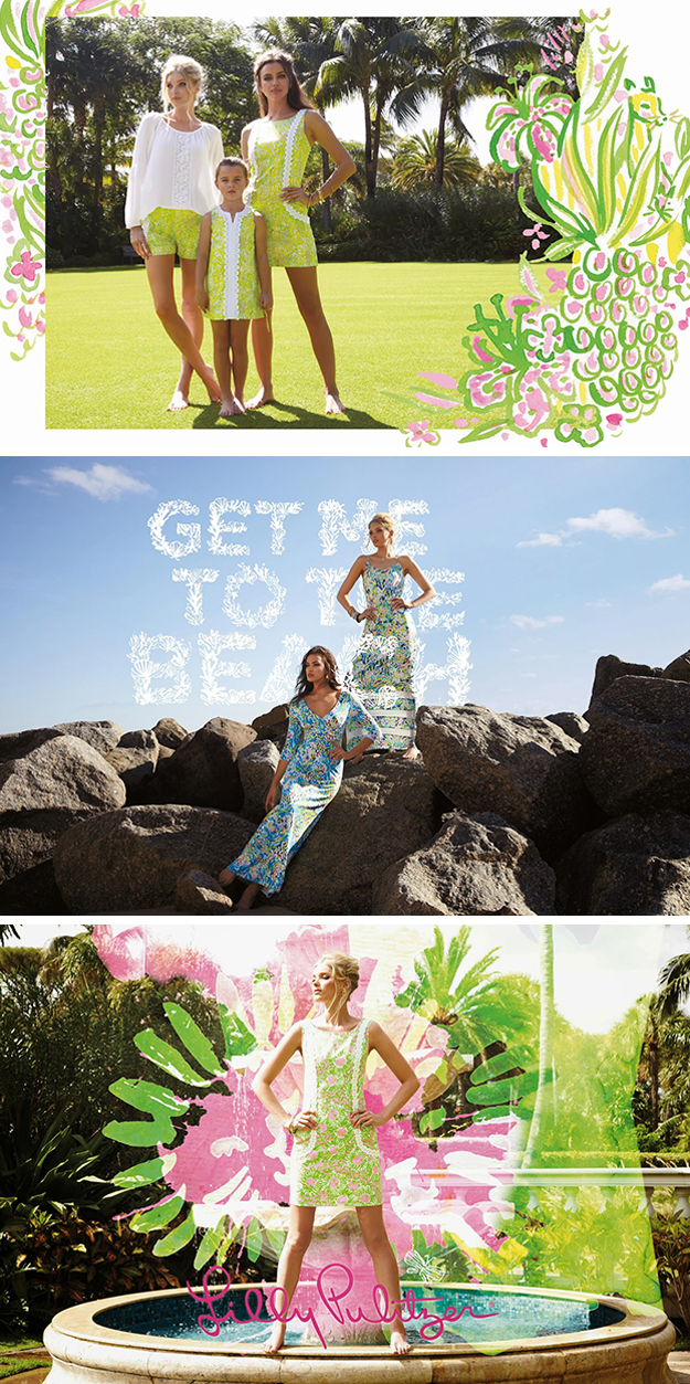 Lilly Pulitzer Spring 2014 watercolor overlays 2