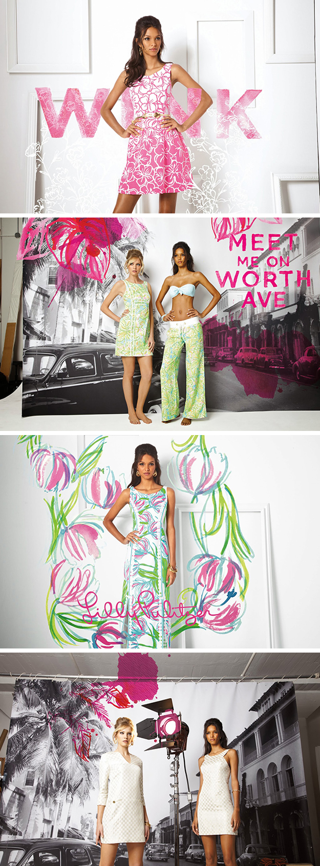 Lilly Pulitzer Spring 2014 watercolor overlays