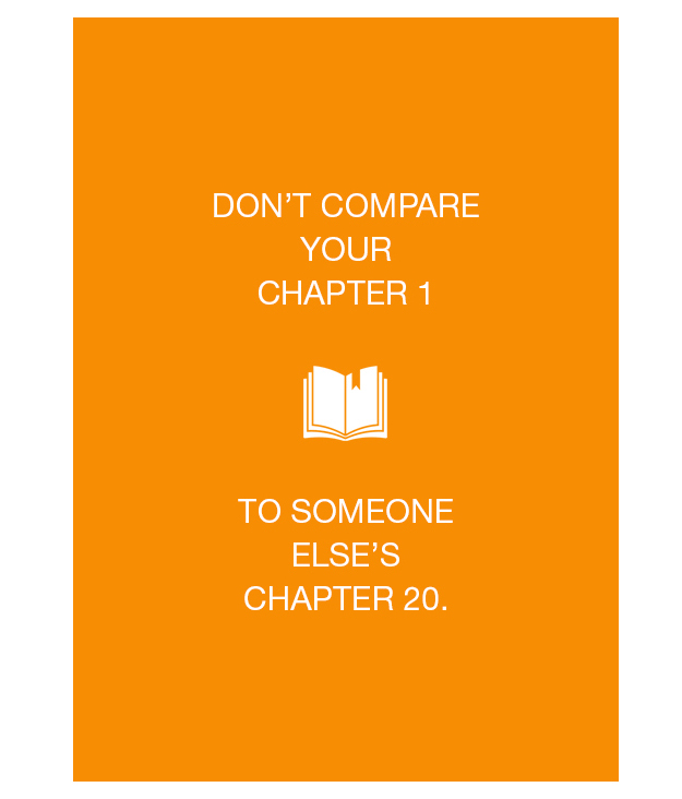dont compare your chapter 1 to some elses chapter 20