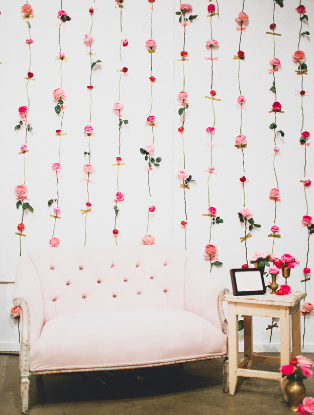 Trade show Inspiration: DIY Fresh Flower Wall