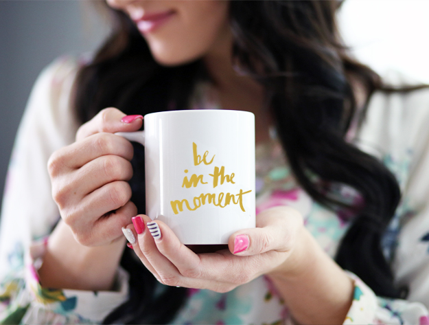 Coffee Mug - Be In The Moment - Gold