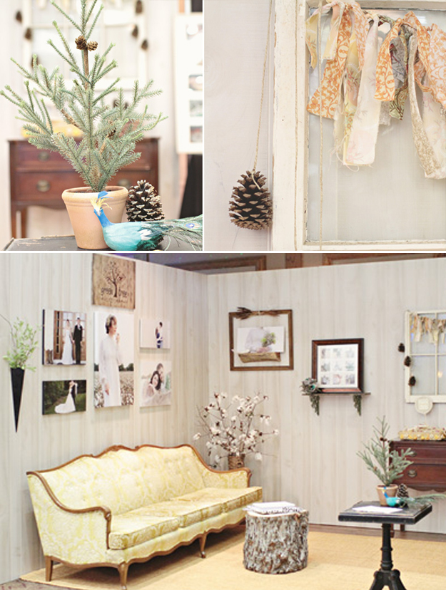 Rustic Natural Bridal Booth