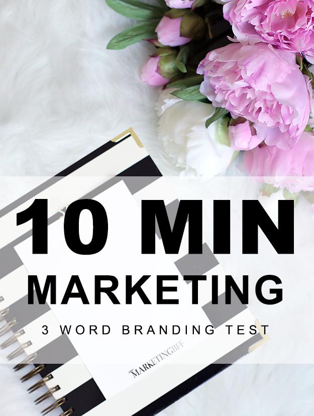 10 Min Marketing-3 word branding