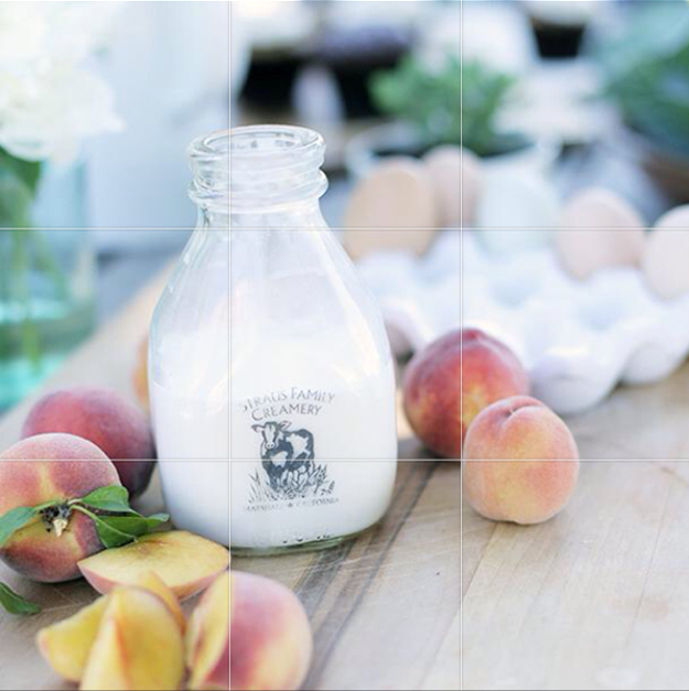 Simple Farm Milk and Peaches photo