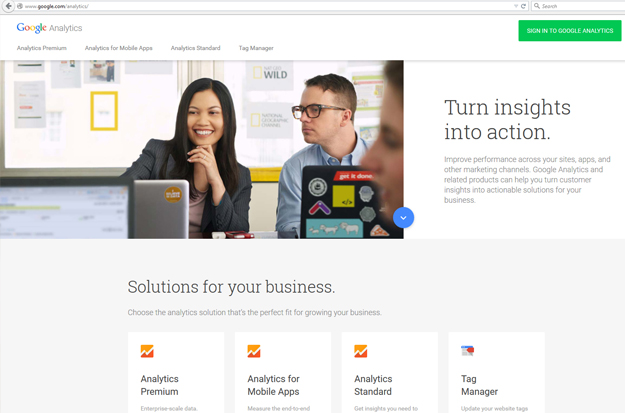 Google Analytics_initial page