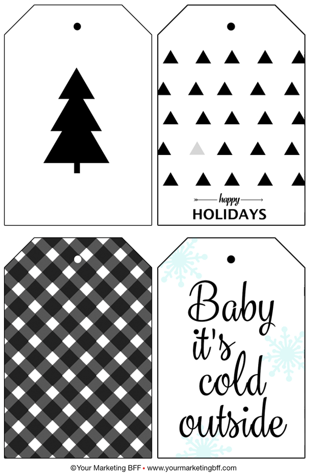 graphic about Christmas Tag Free Printable named Progressive Getaway Reward Tags :: Totally free Printable