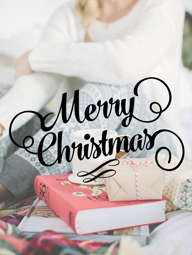 Merry Christmas Card Design Overlay