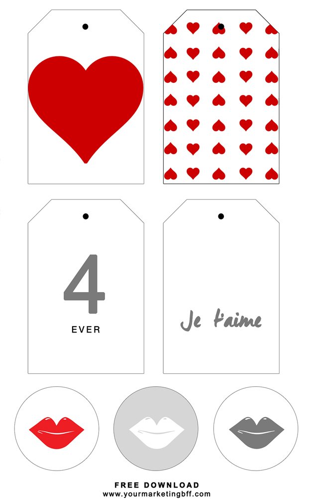 Modern Valentines Day Gift Tags Printable