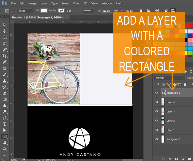 Long Pin image creation - add rectangle colored area
