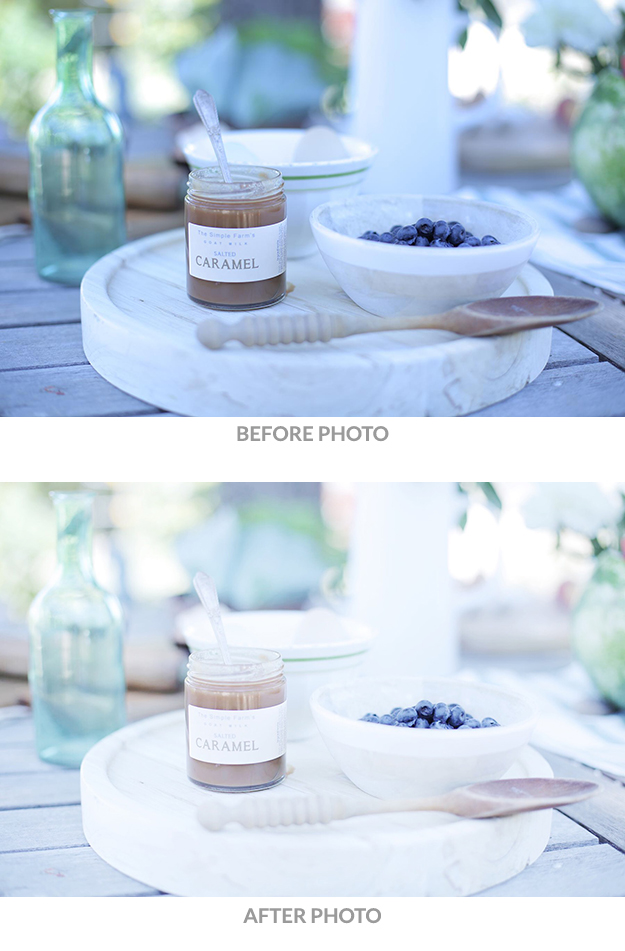 How to take a light bright and airy photo-snapseed before after