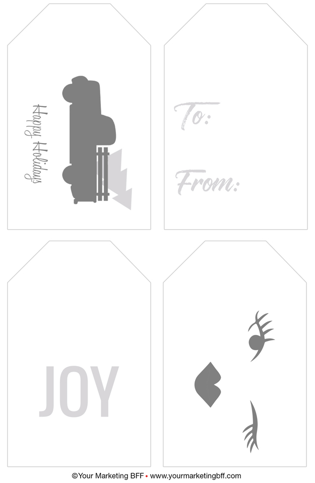 graphic about Printable Christmas Gift Tag called Impressive Xmas Present Tags and Wrapping Paper :: Printables
