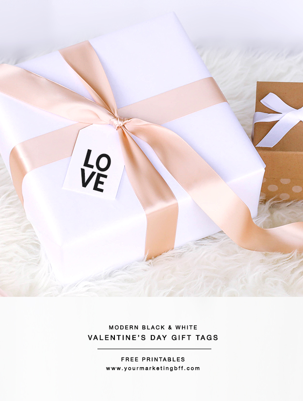 Modern Valentine S Day Gift Tags Free Printable Yourmarketingbff Com