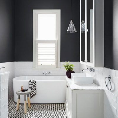 Transitional Style: Small Bathroom Design Inspiration