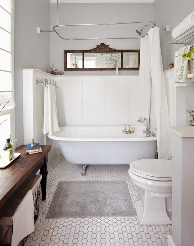 Transitional Style Small Bathroom Design Inspiration