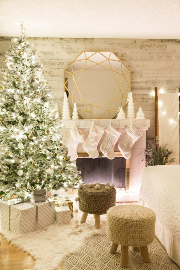 magical neutral gold white christmas holiday decor
