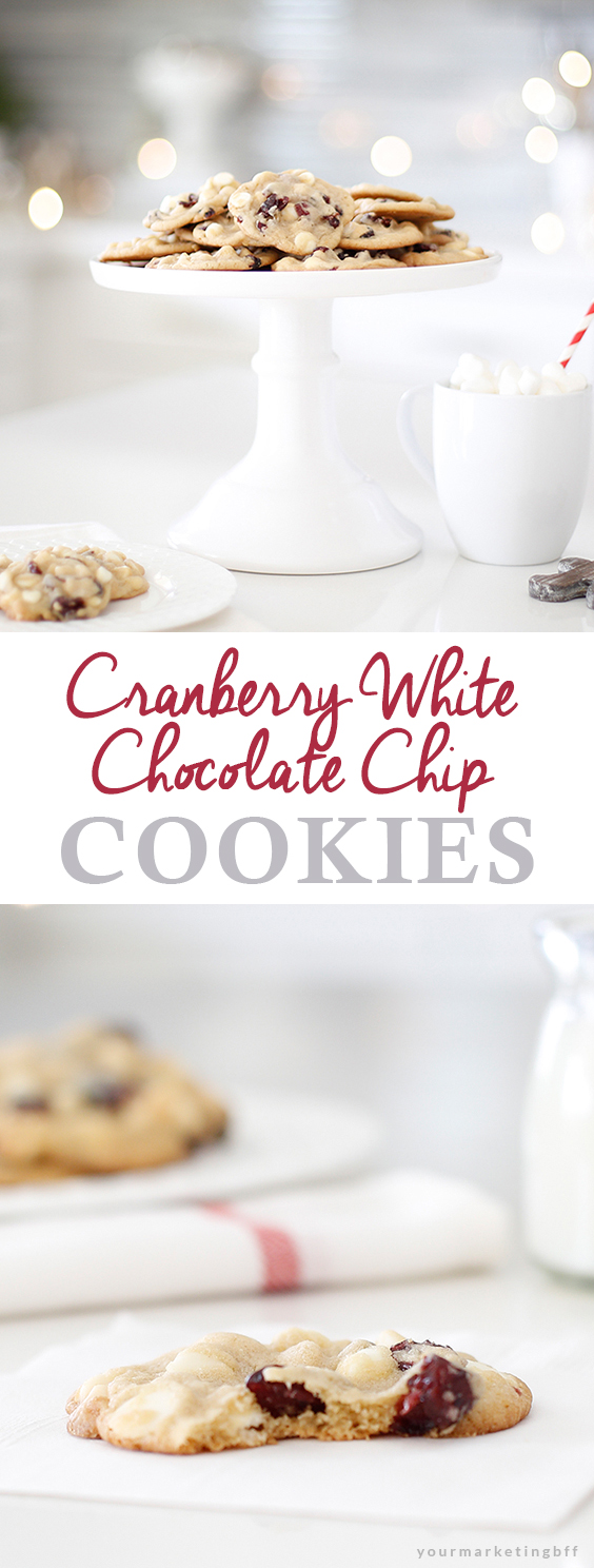 Cranberry White Chocolate Chip Cookies - A Christmas Cookie Exchange ...