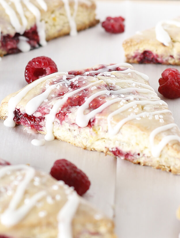 Easy Moist Raspberry Lemon Scones